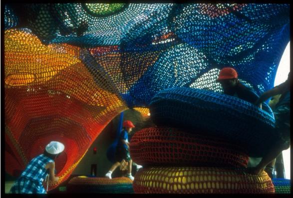 Parque Infantil Hecho Con Ganchillo. Parques Infantiles